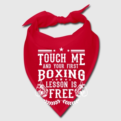 Touch me and your first boxing lesson is free Caps - Bandana