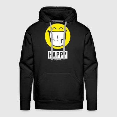 SmileyWorld Happy - Men's Premium Hoodie