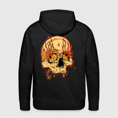 skull with cigar - Men's Premium Hoodie