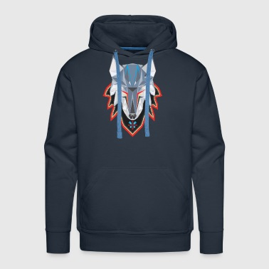 Wolf in Pixelated Clothing - Men's Premium Hoodie