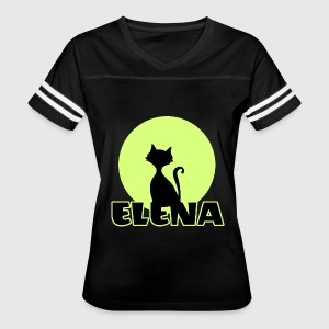 Elena Name day first name personal gift moonlight  T-Shirts - Women's Vintage Sport T-Shirt
