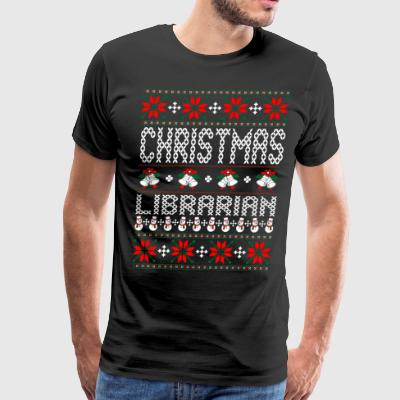 Librarian Ugly Christmas Sweater T-Shirts - Men's Premium T-Shirt