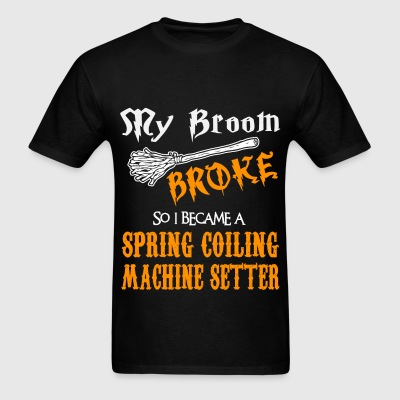 Spring Coiling Machine Setter - Men's T-Shirt
