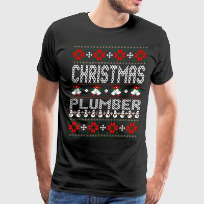 Plumber Ugly Christmas Sweater T-Shirts - Men's Premium T-Shirt