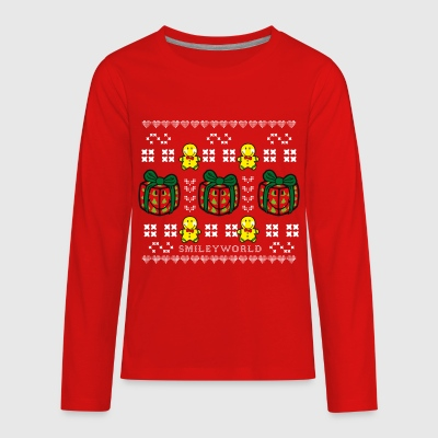 SmileyWorld Time to unwrap Presents - Kids' Premium Long Sleeve T-Shirt