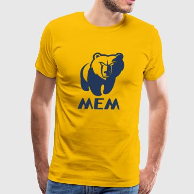 Memphis Grizzlies MEM Yellow T-Shirt - Men's Premium T-Shirt