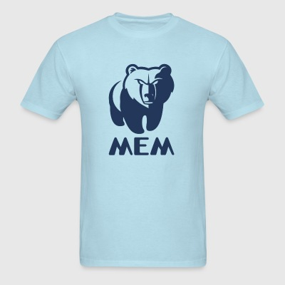 Memphis Grizzlies MEM Blue T-Shirt - Men's T-Shirt