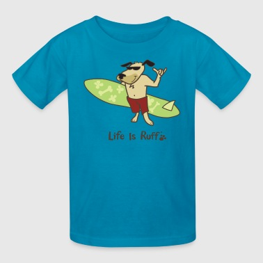 Surfer Dog - Kids' T-Shirt