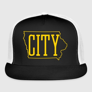 Iowa City - City Truckers Hat - Hawkeye Colors  - Trucker Cap