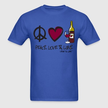 Peace Love Wine - Men's T-Shirt