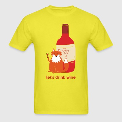 Let's drink wine - Men's T-Shirt