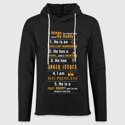 5 things You should know about my Daddy - Unisex Lightweight Terry Hoodie
