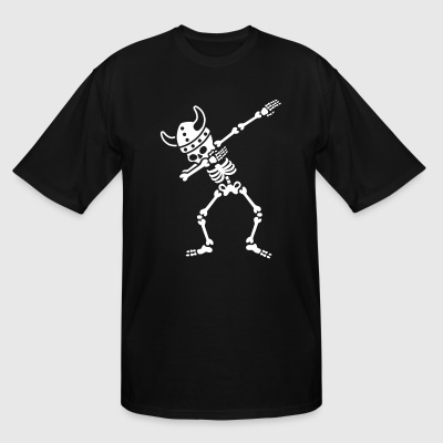 Skeleton Dab Dabbing Viking T-Shirts - Men's Tall T-Shirt