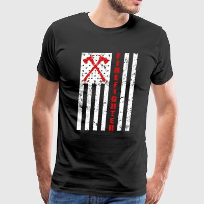 Thin Red Line Firefighter men's shirt - Men's Premium T-Shirt