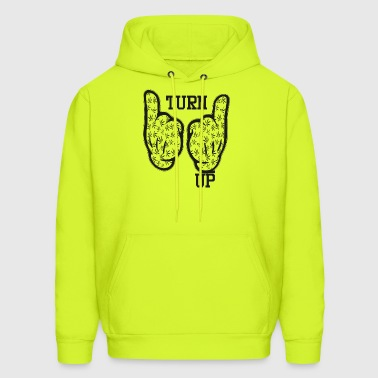 Turn Up Weed Cartoon Hands - Men's Hoodie