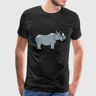 rhinoceros funny bored T-Shirts - Men's Premium T-Shirt