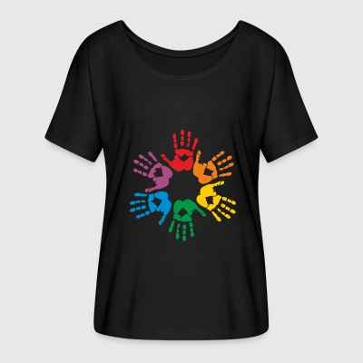 Rainbow hands T-Shirts - Women's Flowy T-Shirt