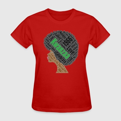 Kwanzaa Natural Hair Afro Shirt for Black Women - Women's T-Shirt