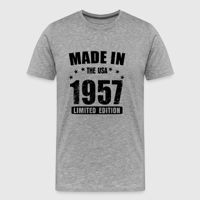 Made in the USA born in 1957 60th birthday shirt - Men's Premium T-Shirt