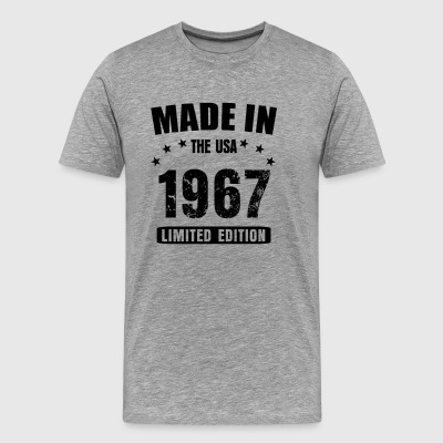 Made in the USA born in 1967 50th birthday shirt - Men's Premium T-Shirt