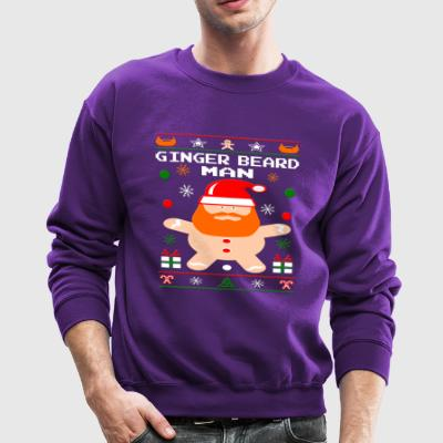 Cool Ginger Beard Man Long Sleeve Shirts - Crewneck Sweatshirt