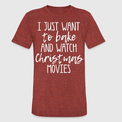 bake and christmas movies - Unisex Tri-Blend T-Shirt by American Apparel