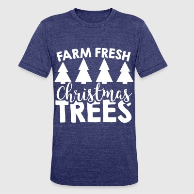 christmas farm - Unisex Tri-Blend T-Shirt by American Apparel