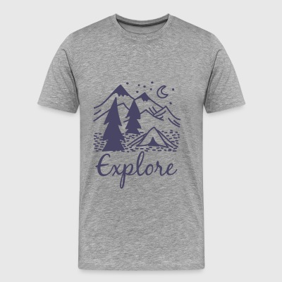 Adventure - Explore - Men's Premium T-Shirt