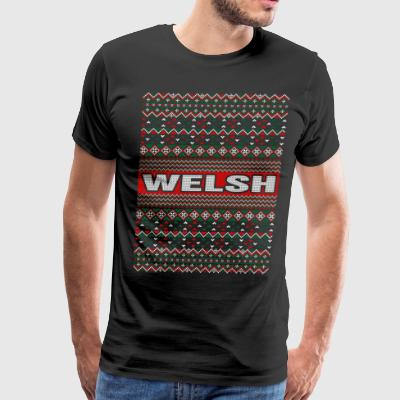 Welsh Ugly Christmas Sweater T-Shirts - Men's Premium T-Shirt