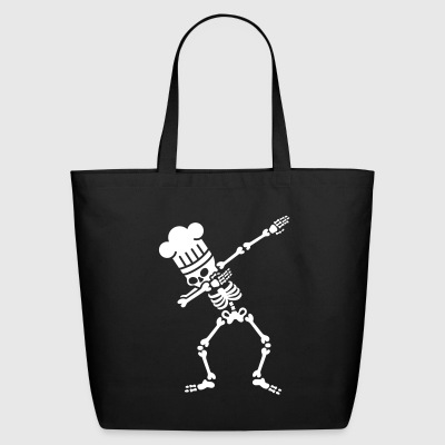 Dab dabbing skeleton BBQ cook / chef Bags & backpacks - Eco-Friendly Cotton Tote