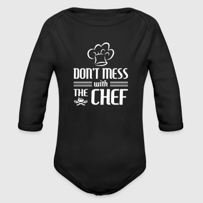 Don't mess with the Chef - cooking gift Baby Bodysuits - Long Sleeve Baby Bodysuit