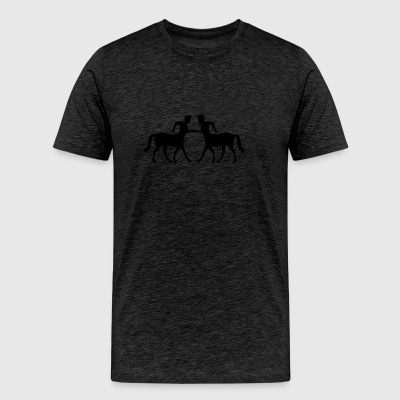 2 friends team couple welcome cool centaur horse m T-Shirts - Men's Premium T-Shirt