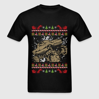 Ugly Christmas Mud Truck T-Shirts - Men's T-Shirt