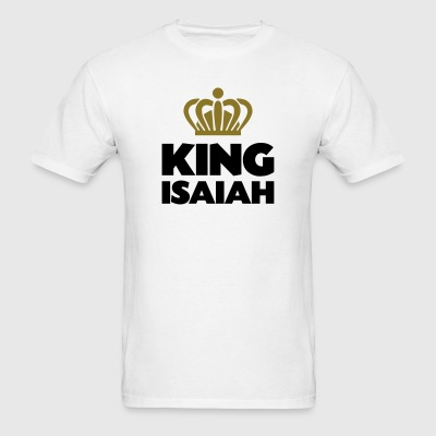 King isaiah name thing crown - Men's T-Shirt