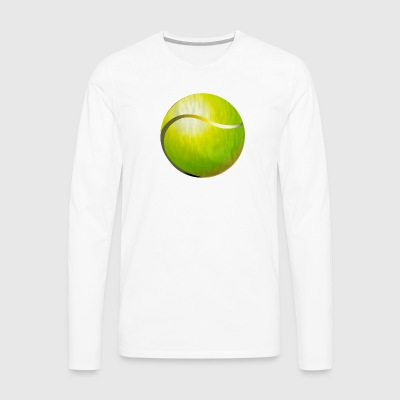 Tennis (ADD CUSTOM TEXT) - Men's Premium Long Sleeve T-Shirt