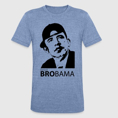 Men's BRObama Tri-color - Unisex Tri-Blend T-Shirt by American Apparel