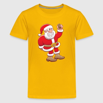 Santa Claus nervously grinning while taking selfie Kids' Shirts - Kids' Premium T-Shirt