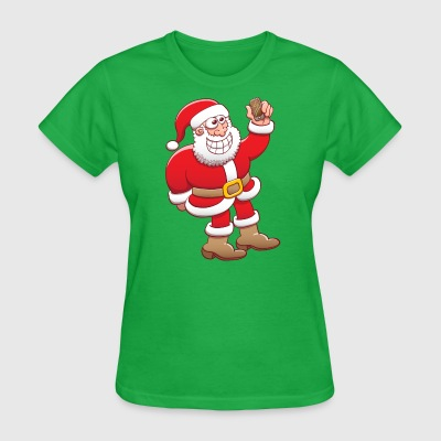 Santa Claus nervously grinning while taking selfie T-Shirts - Women's T-Shirt