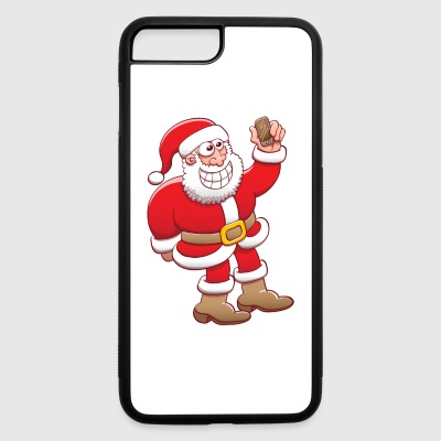Santa Claus nervously grinning while taking selfie Phone & Tablet Cases - iPhone 7 Plus/8 Plus Rubber Case