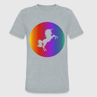 Magic Unicorn Rounded T-Shirts - Unisex Tri-Blend T-Shirt by American Apparel