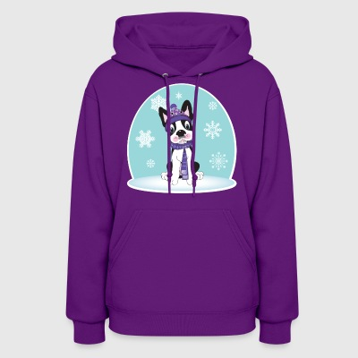 Boston Terrier Snow Hoodies - Women's Hoodie