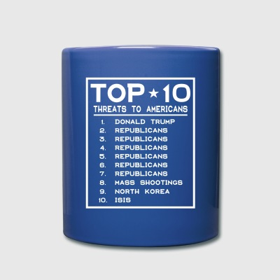 Top Ten Threats to Americans Mugs & Drinkware - Full Color Mug