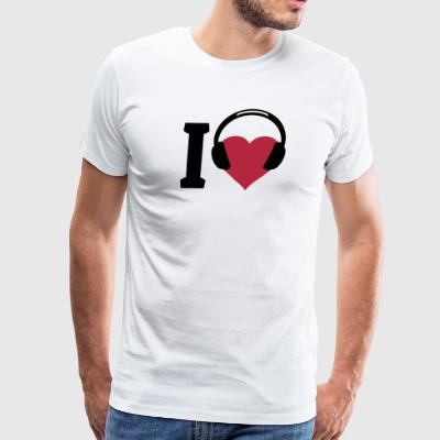I love Music T-Shirts - Men's Premium T-Shirt