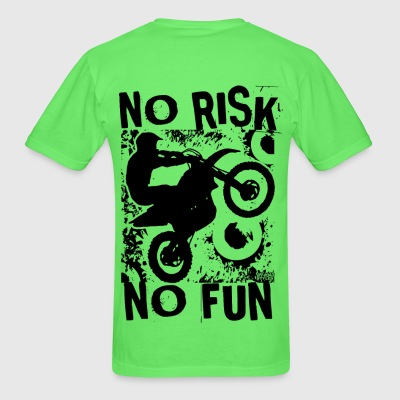 Motocross No Risk No Fun T-Shirts - Men's T-Shirt