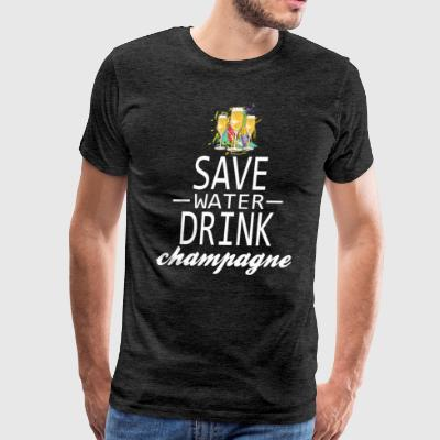 save-water-drink-champagne.png T-Shirts - Men's Premium T-Shirt