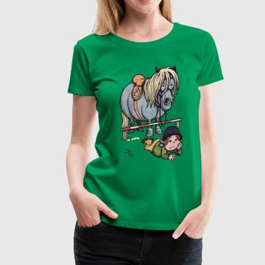 Thelwell Funny Showjumping Gone Wrong - Women's Premium T-Shirt