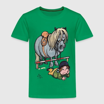 Thelwell Funny Showjumping Gone Wrong - Toddler Premium T-Shirt