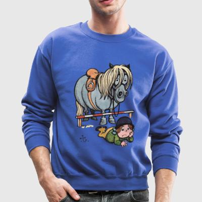 Thelwell Funny Showjumping Gone Wrong - Crewneck Sweatshirt