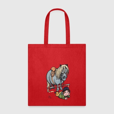 Thelwell Funny Showjumping Gone Wrong - Tote Bag