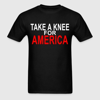take_a_knee_for_america_funny_shirt_ - Men's T-Shirt